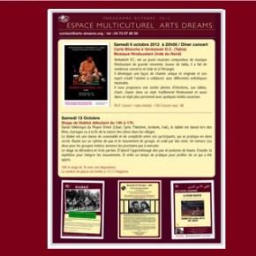 Programme Octobre  2012 Arts Dreams