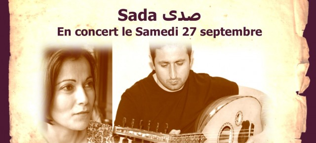 Concert  samedi  27 avec le Duo «Sada »