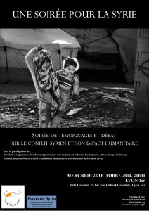 affiche focus on syria 22 octobre